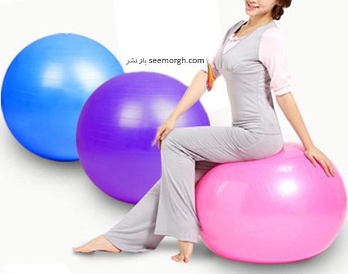 تناسب اندام در خانه با يك توپ گرد,حفظ تناسب اندام در خانه