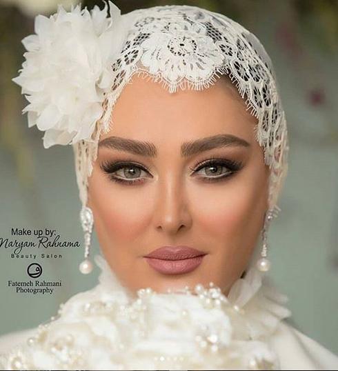 الهام حميدي,مراسم ازدواج الهام حميدي,مراسم عروسي الهام حميدي,مدل آرايش الهام حميدي در مراسم ازدواج اش