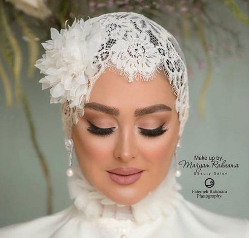 الهام حميدي,مراسم ازدواج الهام حميدي,مراسم عروسي الهام حميدي,آرايش الهام حميدي در مراسم عروسي اش