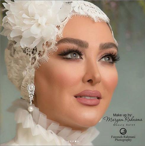 الهام حميدي,مراسم ازدواج الهام حميدي,مراسم عروسي الهام حميدي,آرايش الهام حميدي در مراسم ازدواج اش
