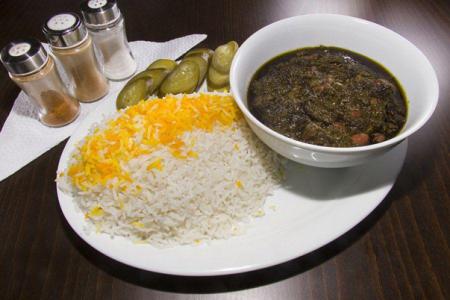 طرز تهیه خورش قورمه سبزی بدون گوشت,قورمه سبزی بدون گوشت,قورمه سبزی با قارچ