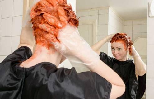 رنگ کردن مو,رن کردن مو هاي بلند