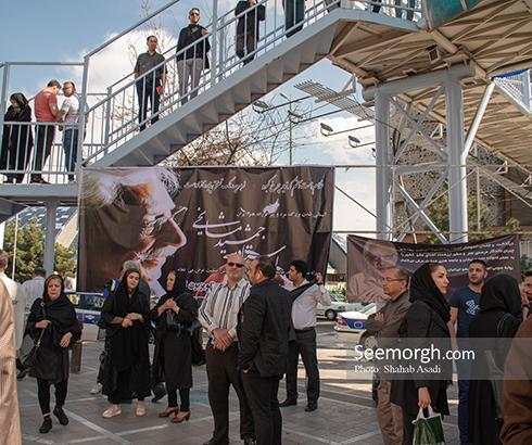 جمشید مشایخی,ختم,ترحیم,مسجد,بازیگران