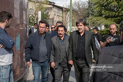 جمشید مشایخی,ختم,ترحیم,مسجد,بازیگران,جواد یساری