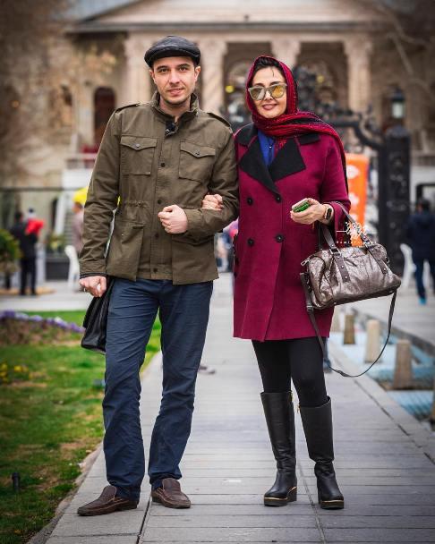 عکس جديد کتايون رياحي و پسرش