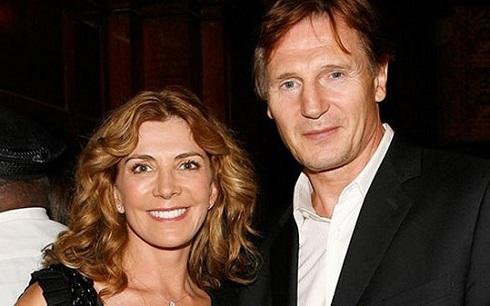 ليام نيسون و همسرش