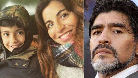 دختر و نوه مارادونا