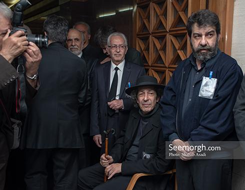 جمشید مشایخی,ختم,ترحیم,مسجد,بازیگران,نادر مشایخی