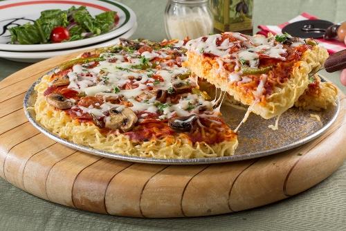پیتزا,پیتزا نودل,طرز تهیه پیتزای نودل
