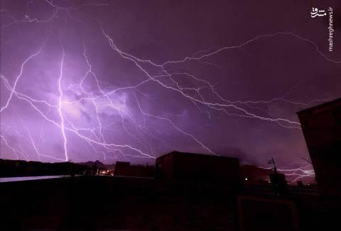 رعد و برق در تهران 2