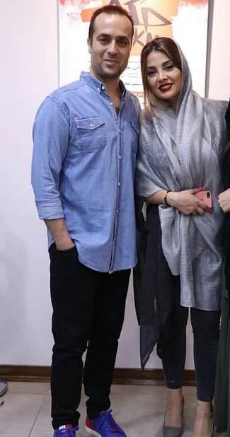 احمد مهرانفر در کنار همسرش مونا فائزپور 2