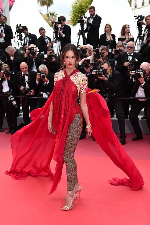 مدل لباس در جشنواره کن,مدل لباس الساندرا آمبر Alessandra Ambrosio در جشنواره کن 2019 - 15 می