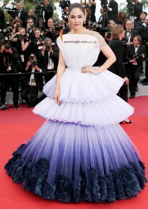 مدل لباس,مدل لباس در جشنواره کن,جشنواره کن,جشنواره کن 2019,مدل لباس در جشنواره کن 2019,مدل لباس آریا هارگیت Arya Hargate در افتتاحیه جشنواره کن 2019 Cannes