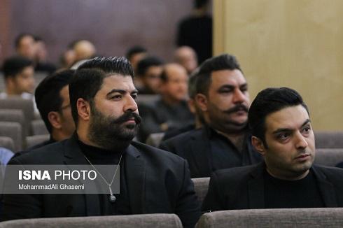 بهنام بانی در مجلس ترحیم بهنام صفوی در تهران
