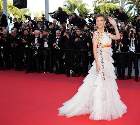 مدل لباس بلا حدید Bella Hadid در جشنواره کن 2019 - 16 می,مدل لباس در جشنواره کن