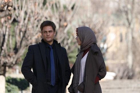 لیلا حاتمی و حسین یاری در سریال شبکه خانگی نهنگ آبی