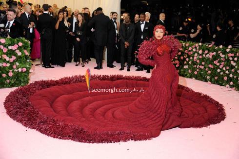 مت گالا,مدل لباس,مدل لباس در مت گالا,عجیب ترین مدل لباس,عجیب ترین مد لباس در مت گالا,مدل لباس در مت گالا 2019 Met Gala کاردی بی Cardi B