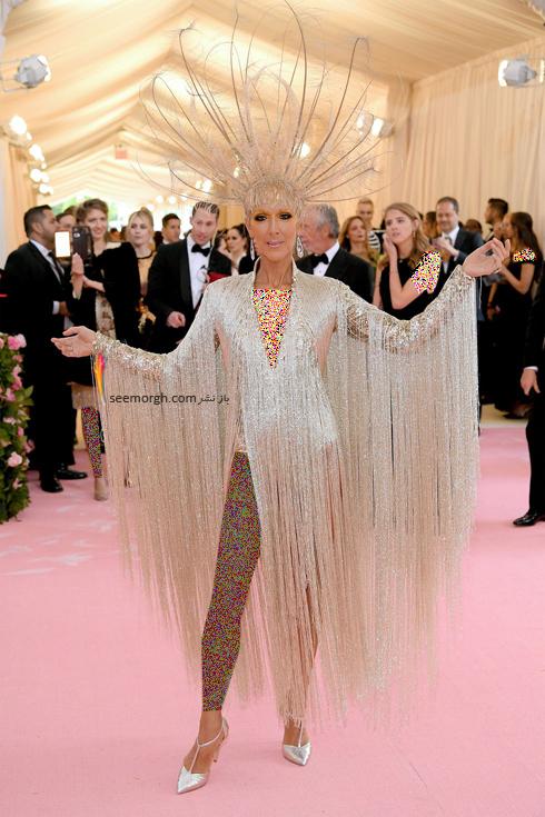 مت گالا,مدل لباس,مدل لباس در مت گالا,عجیب ترین مدل لباس,عجیب ترین مد لباس در مت گالا,مدل لباس در مت گالا 2019 Met Gala سلین دیون Celine Dion
