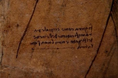دست خط لئونادرو داوینچی