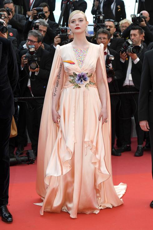مدل لباس,مدل لباس در جشنواره کن,جشنواره کن,جشنواره کن 2019,مدل لباس در جشنواره کن 2019,مدل لباس ال فانینگ Elle Fanning در افتتاحیه جشنواره کن 2019 Cannes