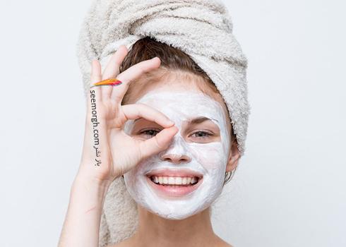 ماسک,ماسک صورت,ماسک سفید کننده صورت,ماسک نشاسته روشن کننده پوست های کدر