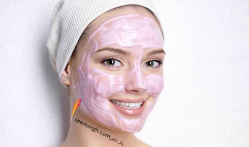 ماسک,ماسک صورت,ماسک سفید کننده صورت,ماسک عسل و شیر، روشن کننده پوست های کدر
