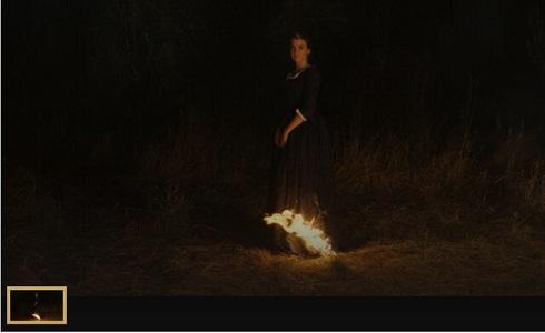 پرتره یک بانو روی آتش