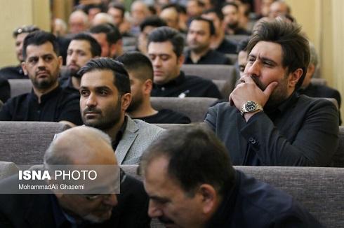 محمد علیزاده در مراسم ترحیم بهنام صفوی