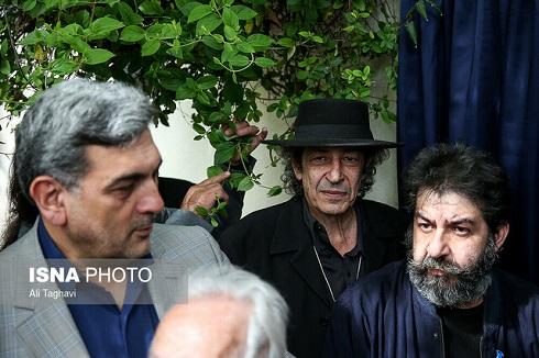 نادر مشایخی در مراسم رونمایی از خیابان جمشید مشایخی