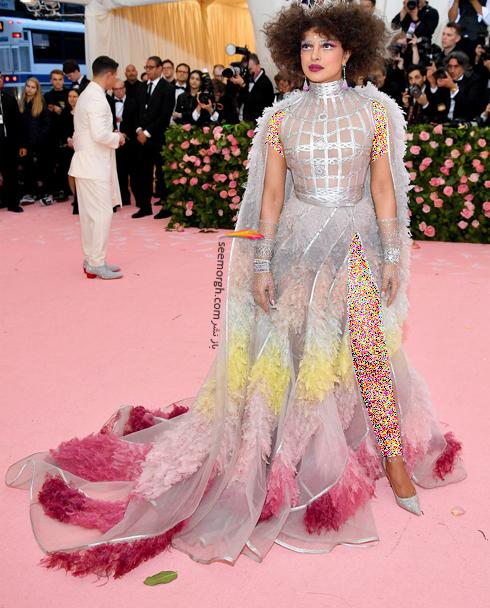 مت گالا,مدل لباس,مدل لباس در مت گالا,عجیب ترین مدل لباس,عجیب ترین مد لباس در مت گالا,مدل لباس در مت گالا 2019 Met Gala پریانکا چوپرا Priyanka Chopra