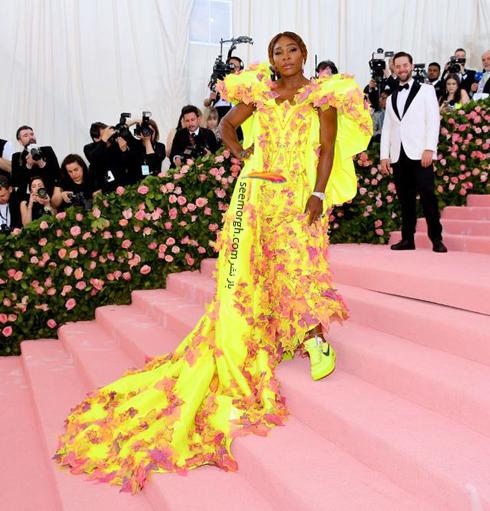 مت گالا,مدل لباس,مدل لباس در مت گالا,عجیب ترین مدل لباس,عجیب ترین مد لباس در مت گالا,مدل لباس در مت گالا 2019 Met Gala سرنا ویلیامز Serena Williams