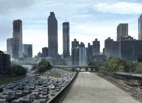 تصویربرداری سریال مردگان متحرک در جورجیای آمریکا