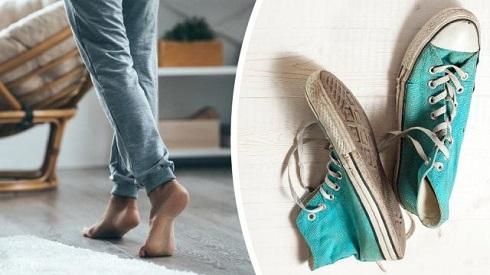 نپوشیدن کفش در خانه