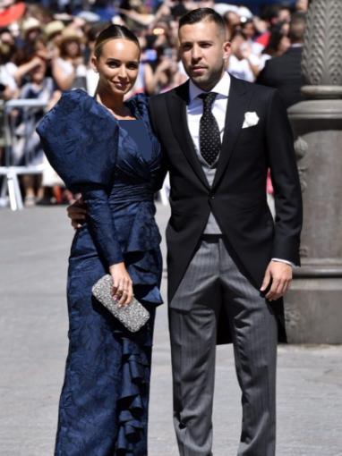 جوردی البا و همسرش در مراسم ازدواج راموس
