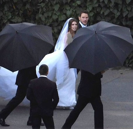 مراسم ازدواج کریس پرات و کاترین شوارتزنگر