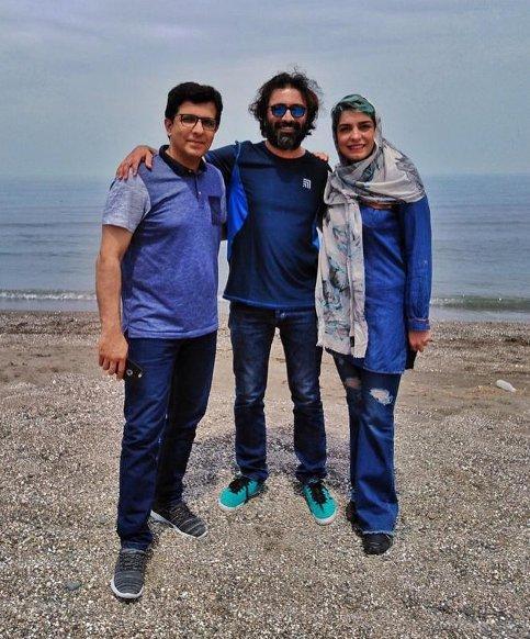 الیکا عبدالرزاقی در کنار همسر و برادرش