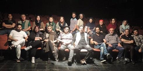 رضا رویگری و همسرش تارا کریمی در نمایش حسن کچل