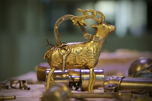 نمایشگاه قفل های قدیمی حسین شمس در میراث فرهنگی