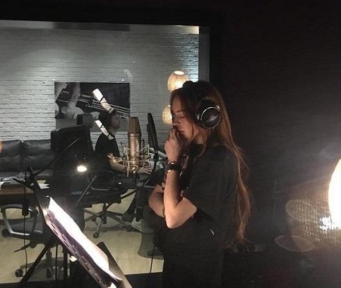 لیندزی لوهان در حال ضبط موسیقی جدید
