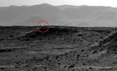 نور دیده شده برروی مریخ
