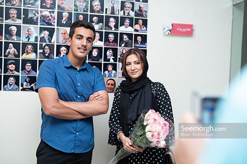 سمیرا حسینی در مراسم رونمایی از رالی ایرانی 2