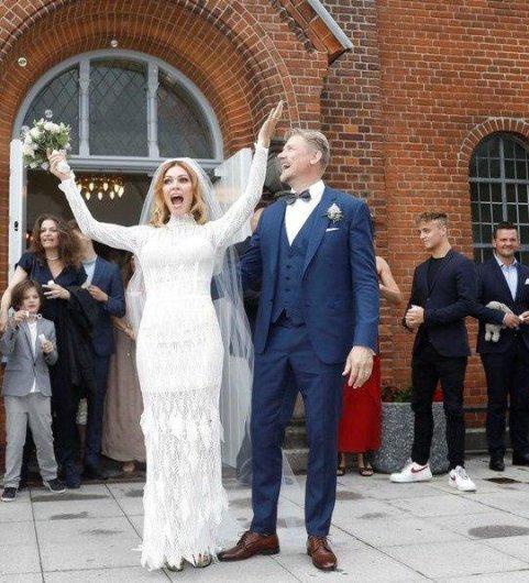 پیتر اشمایکل و همسرش در روز ازدواج شان