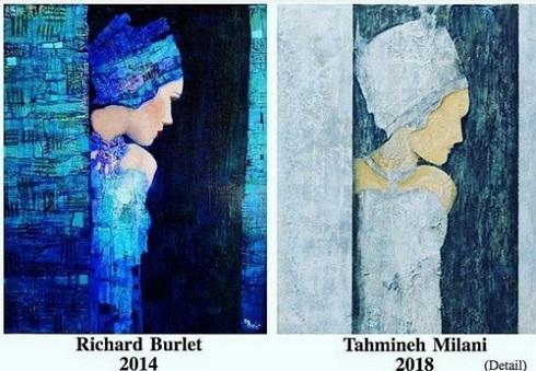 کپی کاری تهمینه میلانی در نقاشی هایش,سرقت هنری تهمینه میلانی,نقاشی های کپی تهمینه میلانی