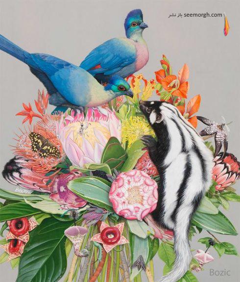نقاشی های سورئال Tiffany Bozic