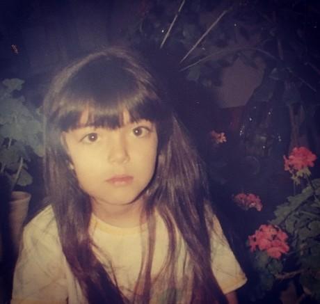 آزاده نامداری در 4 سالگی
