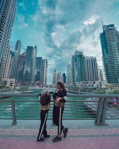 عکس الهام عرب و دخترش در دوبی