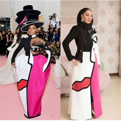 شباهت لباس الهام حمیدی و خواننده آمریکایی!