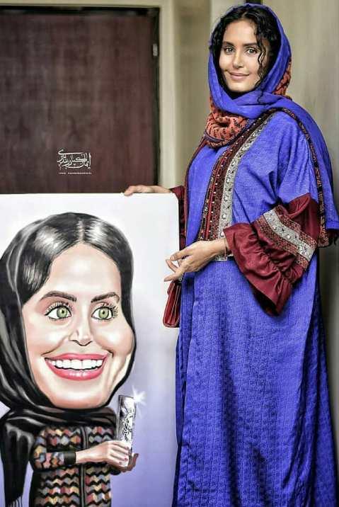 الناز شاکردوست و کاریکاتوری از چهره اش