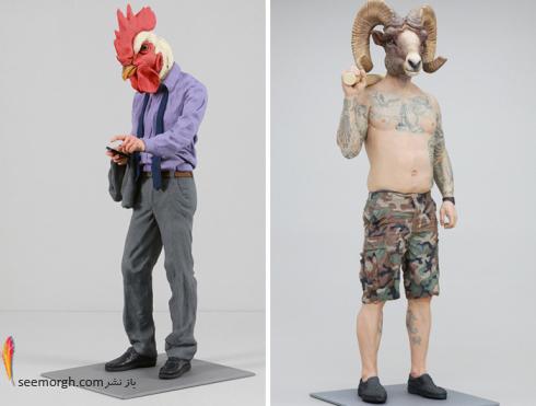 مجسمه سازی,فیگور,مزرعه حیوانات,مجسمه سازی با سفال,George Orwell