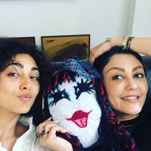 عکس گلشیفته فراهانی در کنار خواهرش شقایق فراهانی